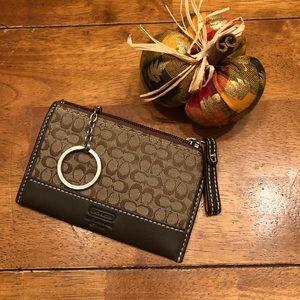 Vintage Coach Keychain ID Wallet